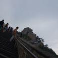 070808_中国へ:万里の長城は急だった。