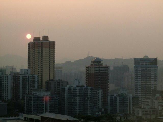 070814_中国へ:重慶の夕日1