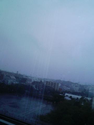 雨ですね。