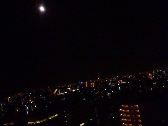 月が綺麗。。。