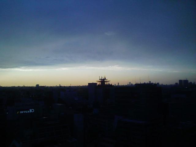 そして都内で夕日を。