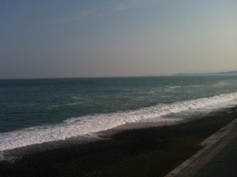 湘南の海、で休憩。