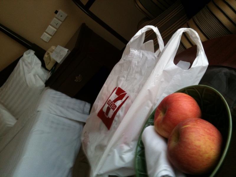 ホテルにフルーツ。