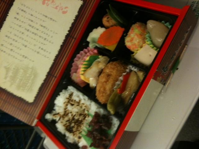 京都から新幹線でお弁当。