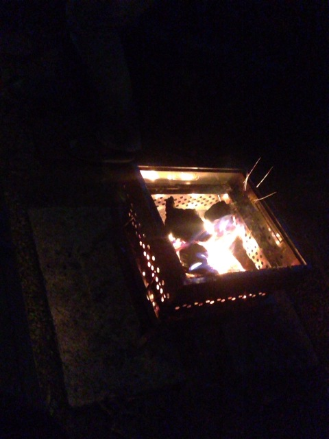 焚き火はいいね。