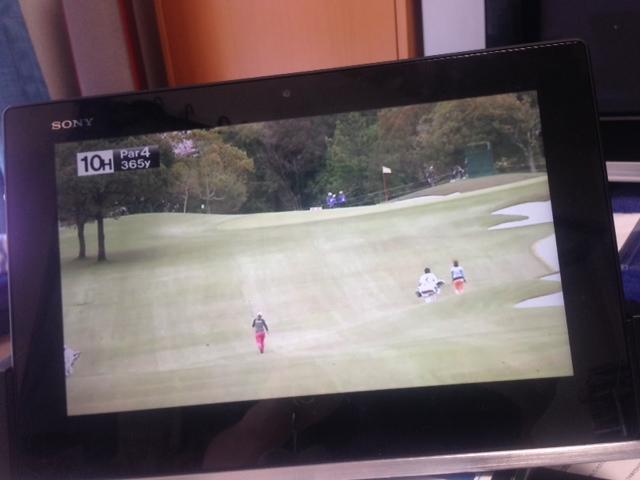 ゴルフトーナメントを生で。